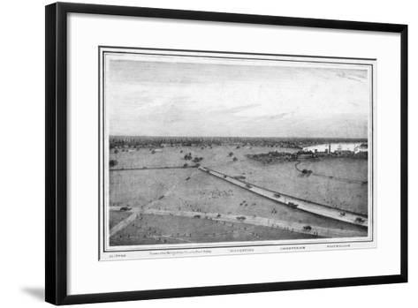 Panorama of Calcutta, India, C1840S-Frederick Fiebig-Framed Art Print