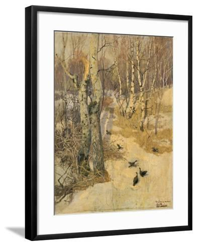 Woods Covered with Snow, 19th Century-Frits Thaulow-Framed Art Print