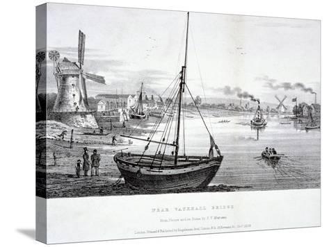 Vauxhall Bridge, London, 1829-FV Martens-Stretched Canvas Print