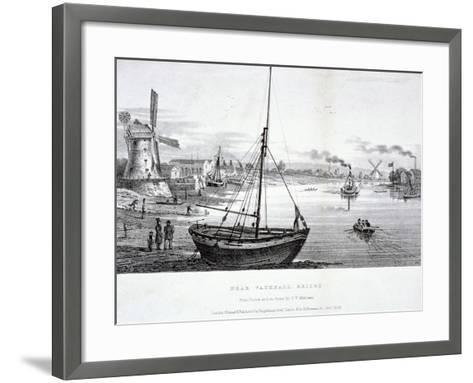 Vauxhall Bridge, London, 1829-FV Martens-Framed Art Print