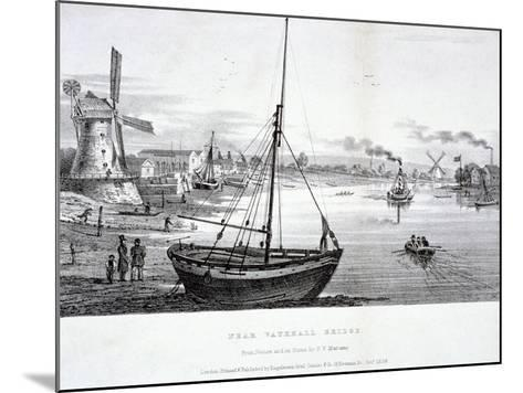 Vauxhall Bridge, London, 1829-FV Martens-Mounted Giclee Print