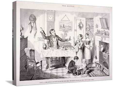 The Bottle, 1847-George Cruikshank-Stretched Canvas Print