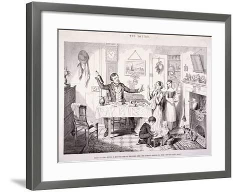 The Bottle, 1847-George Cruikshank-Framed Art Print