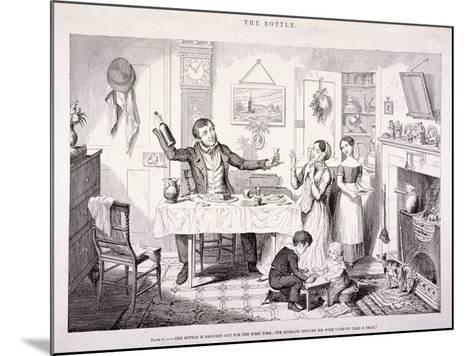 The Bottle, 1847-George Cruikshank-Mounted Giclee Print