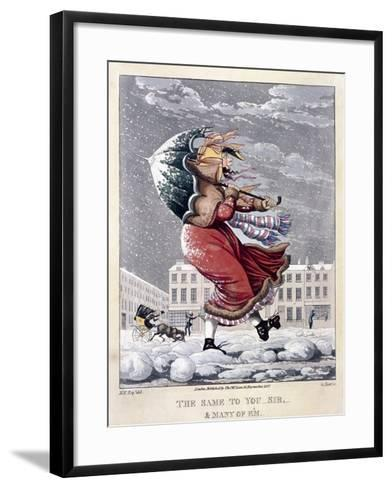 The Same to You Sir, and Many of 'Em, 1827-George Hunt-Framed Art Print
