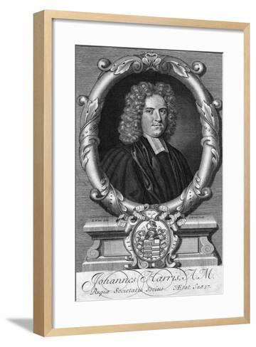 Portrait of John Harris, Late 17th or Early 18th Century-G White-Framed Art Print