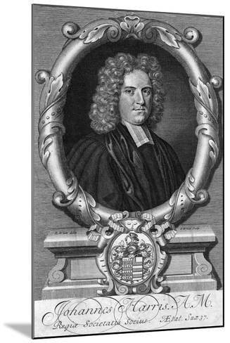 Portrait of John Harris, Late 17th or Early 18th Century-G White-Mounted Giclee Print