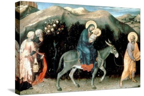 Flight into Egypt, 1423-Gentile da Fabriano-Stretched Canvas Print
