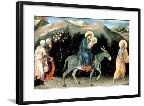 Flight into Egypt, 1423-Gentile da Fabriano-Framed Art Print