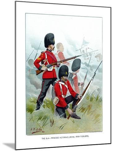 The 87th Princess Victoria's (Royal Irish Fusilier), C1890-Geoffrey Douglas Giles-Mounted Giclee Print
