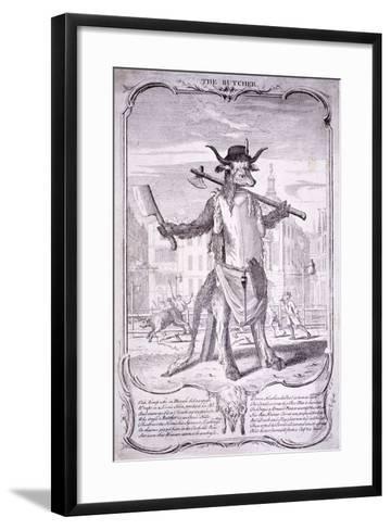 The Butcher, 1740-George Bickham-Framed Art Print