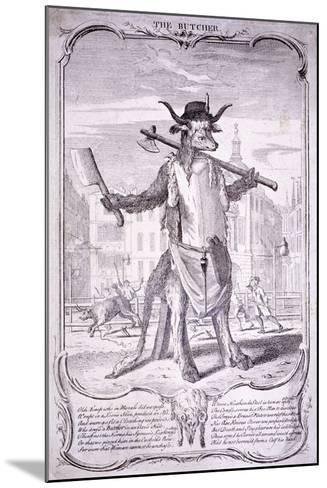 The Butcher, 1740-George Bickham-Mounted Giclee Print