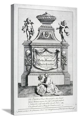 Monument to Queen Caroline, Consort of George II, Westminster Abbey, London, 1737-George Bickham-Stretched Canvas Print
