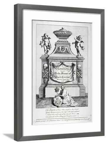 Monument to Queen Caroline, Consort of George II, Westminster Abbey, London, 1737-George Bickham-Framed Art Print