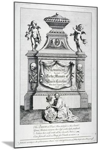 Monument to Queen Caroline, Consort of George II, Westminster Abbey, London, 1737-George Bickham-Mounted Giclee Print