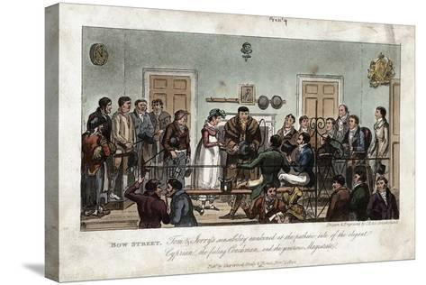 Tom and Jerry as Observers in the Bow Street Magistrate's Court, London, 1821-George Cruikshank-Stretched Canvas Print