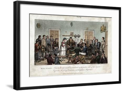 Tom and Jerry as Observers in the Bow Street Magistrate's Court, London, 1821-George Cruikshank-Framed Art Print