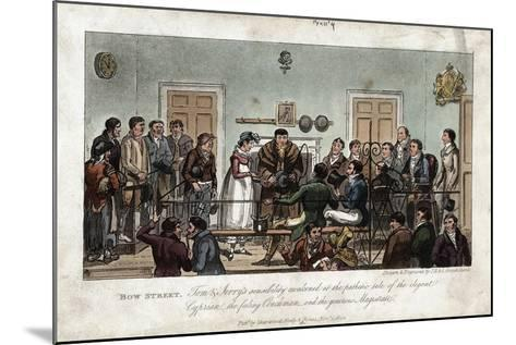 Tom and Jerry as Observers in the Bow Street Magistrate's Court, London, 1821-George Cruikshank-Mounted Giclee Print