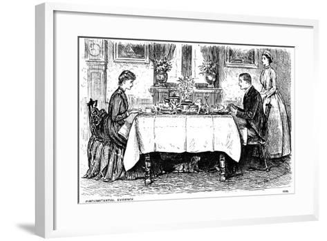 Circumstantial Evidence, 1886-George Du Maurier-Framed Art Print