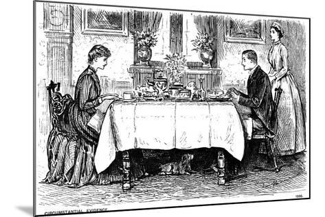 Circumstantial Evidence, 1886-George Du Maurier-Mounted Giclee Print
