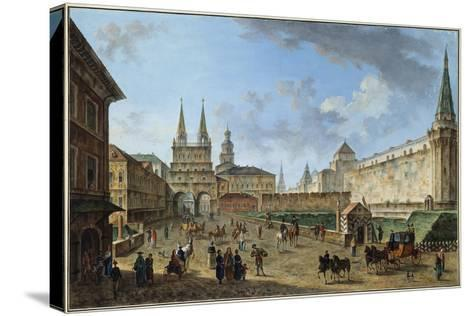 View of the Resurrection Gate on Red Square, Moscow, Russia, C1801-Fyodor Yakovlevich Alexeev-Stretched Canvas Print