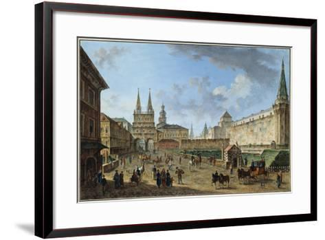 View of the Resurrection Gate on Red Square, Moscow, Russia, C1801-Fyodor Yakovlevich Alexeev-Framed Art Print
