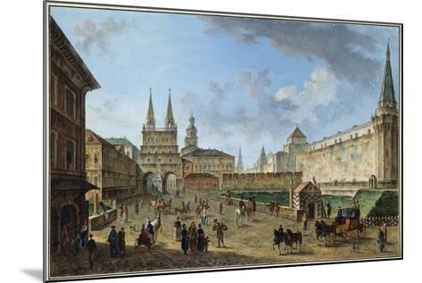 View of the Resurrection Gate on Red Square, Moscow, Russia, C1801-Fyodor Yakovlevich Alexeev-Mounted Giclee Print