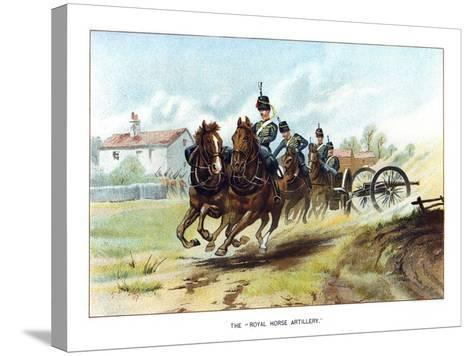 The Royal Horse Artillery, C1890-Geoffrey Douglas Giles-Stretched Canvas Print