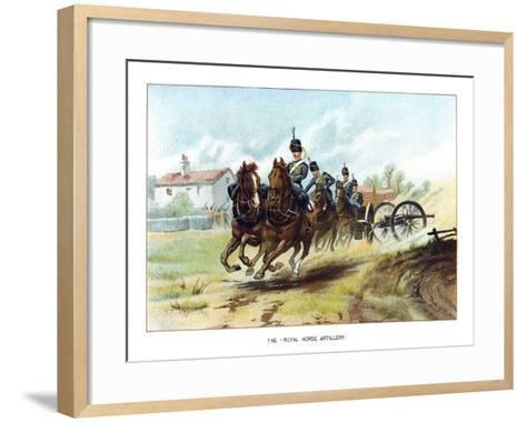 The Royal Horse Artillery, C1890-Geoffrey Douglas Giles-Framed Art Print