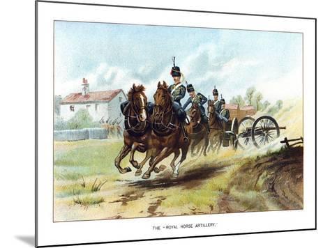 The Royal Horse Artillery, C1890-Geoffrey Douglas Giles-Mounted Giclee Print