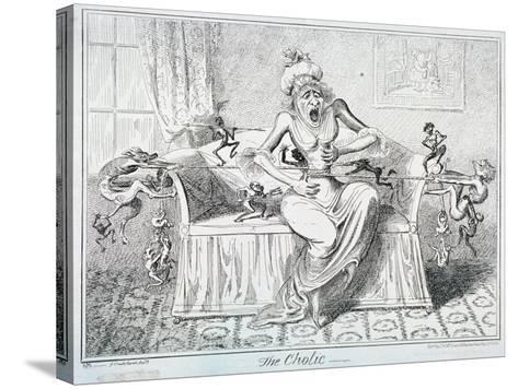 The Cholic, 1835-George Cruikshank-Stretched Canvas Print