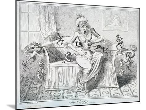 The Cholic, 1835-George Cruikshank-Mounted Giclee Print