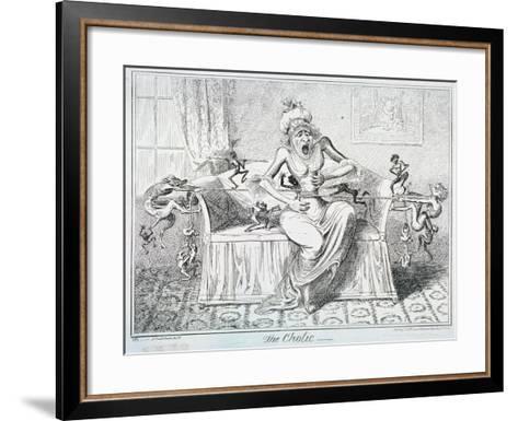 The Cholic, 1835-George Cruikshank-Framed Art Print