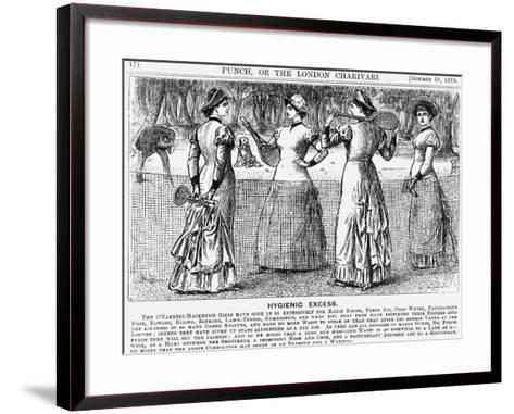 Hygienic Excess, 1879-George Du Maurier-Framed Art Print