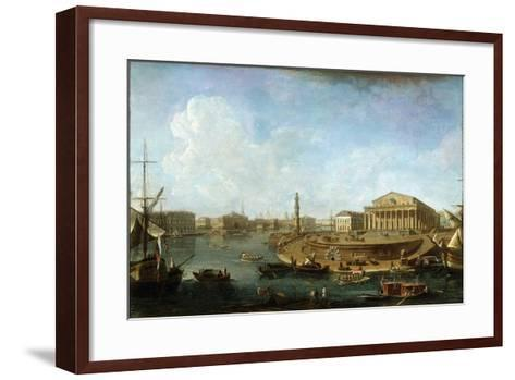 Stock Exchange and Admiralty as Seen from the Peter and Paul Fortress, St Petersburg, 1810-Fyodor Yakovlevich Alexeev-Framed Art Print