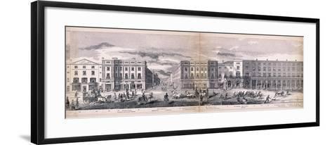 Panorama of London, 1849-George C Leighton-Framed Art Print