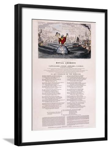 Purity of the River Thames, 1832-George Cruikshank-Framed Art Print