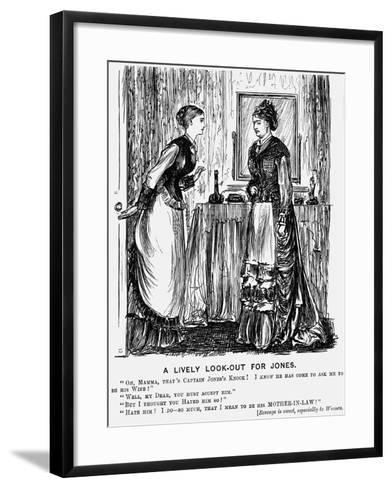 A Lively Look-Out for Jones, 1876-George Du Maurier-Framed Art Print