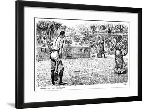 Amenities of the Tennis Lawn, 1883-George Du Maurier-Framed Art Print
