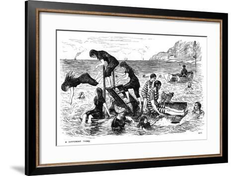 A Different Thing, 1877-George Du Maurier-Framed Art Print