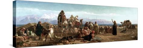 Early Morning in the Wilderness of Shur, 1860-Frederick Goodall-Stretched Canvas Print