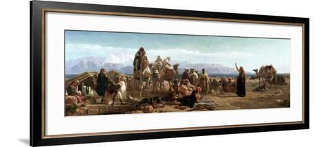 Early Morning in the Wilderness of Shur, 1860-Frederick Goodall-Framed Art Print