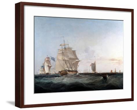 Merchantmen and Other Shipping in the English Channel, 19th Century-George Chambers-Framed Art Print