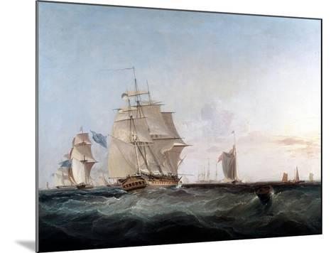 Merchantmen and Other Shipping in the English Channel, 19th Century-George Chambers-Mounted Giclee Print