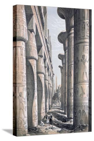 Great Temple, Karnac, Egypt, 19th Century-George Moore-Stretched Canvas Print