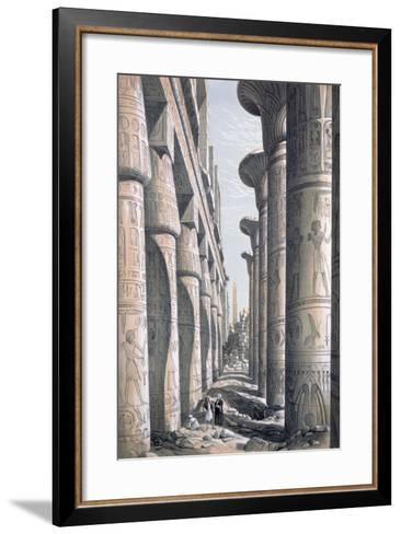 Great Temple, Karnac, Egypt, 19th Century-George Moore-Framed Art Print