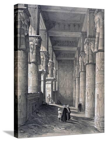 Interior of the Great Temple, Denderah, Egypt, 1843-George Moore-Stretched Canvas Print