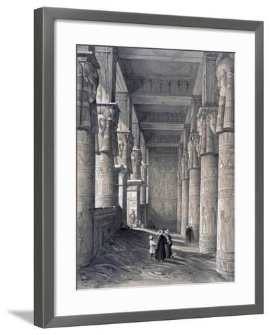Interior of the Great Temple, Denderah, Egypt, 1843-George Moore-Framed Art Print