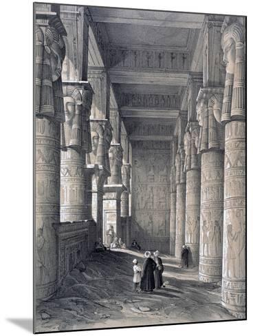 Interior of the Great Temple, Denderah, Egypt, 1843-George Moore-Mounted Giclee Print