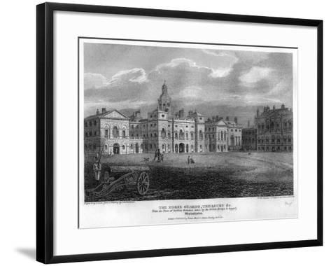 Horse Guards, Westminster, London, 1810-G Cooke-Framed Art Print